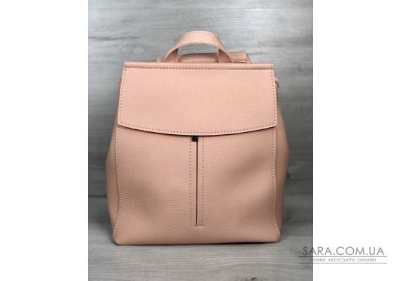 Молодежный сумка-рюкзак Фаби пудрового цвета WeLassie