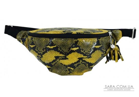 595 поясна сумка змія жовто чорна н Lucherino