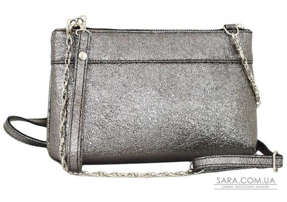 419 сумка-клатч серебро темное н Lucherino