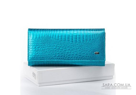 Кошелек LR кожа-лак SERGIO TORRETTI W501 light-blue Podium