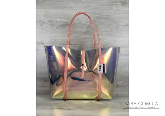2в1 Молодіжна Перламутрова силіконова сумка з пудрою WeLassie