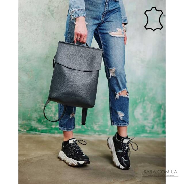 Шкіряний молодіжний сумка-рюкзак сірого кольору WeLassie дешево