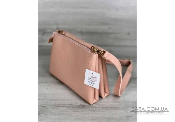 Молодежная женская сумка Виола пудрового цвета WeLassie