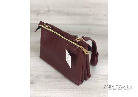 Молодежная женская сумка Виола бордового цвета WeLassie