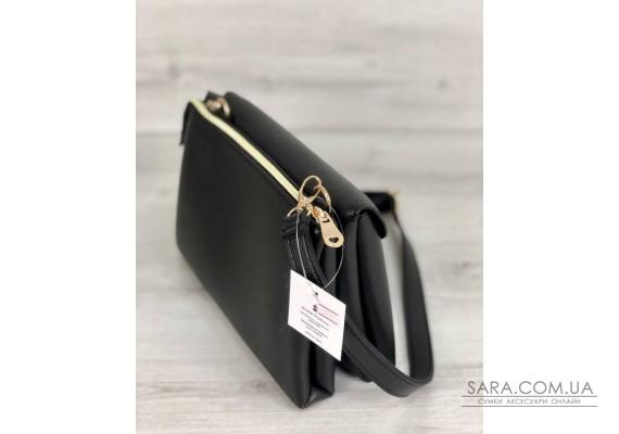 Молодежная женская сумка Виола черного цвета WeLassie