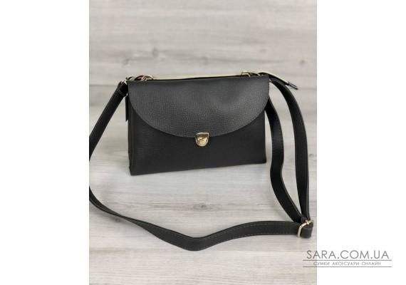 Молодежная женская сумка Виола серого цвета WeLassie