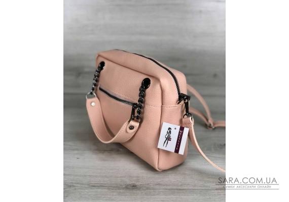 Стильна жіноча сумка Хлоя бежевого кольору WeLassie