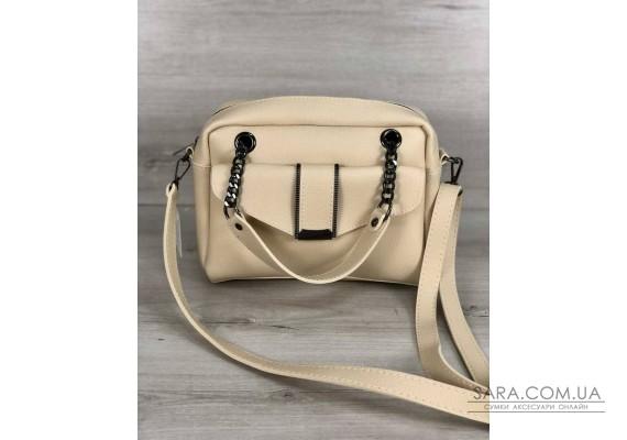 Стильна жіноча сумка Хлоя бежевогой кольору WeLassie