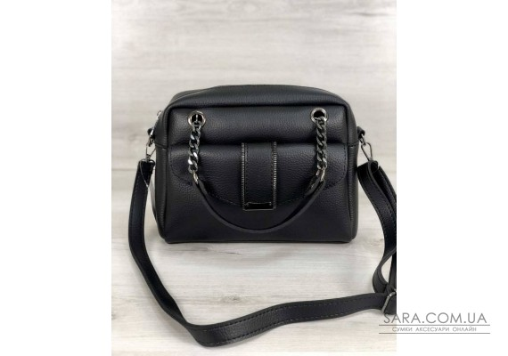 Стильна жіноча сумка Хлоя чорного кольору WeLassie