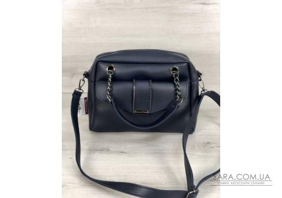 Стильна жіноча сумка Хлоя синього кольору WeLassie