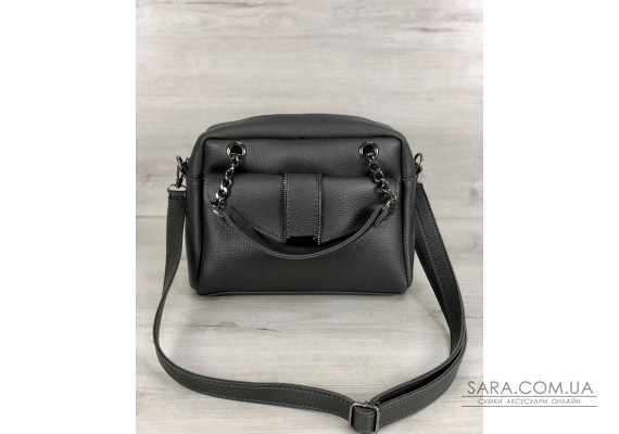 Стильна жіноча сумка Хлоя сірого кольору WeLassie