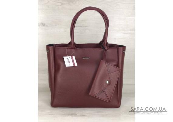 2в1 Молодіжна сумка Аланна бордового кольору WeLassie