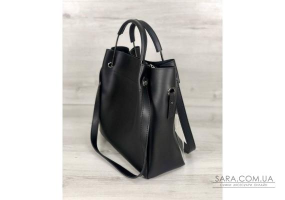 Молодіжна сумка Рамона чорного кольору c силіконом WeLassie
