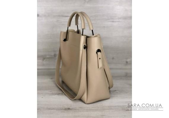 Молодіжна сумка Рамона бежевого кольору WeLassie