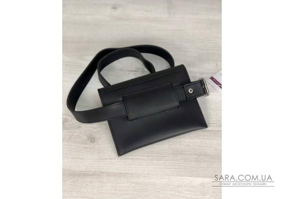 Стильна жіноча сумка на пояс Moris чорного кольору WeLassie