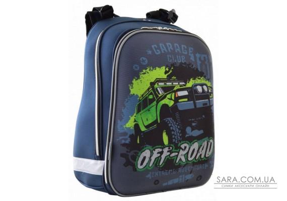 Шкільний каркасний рюкзак 1 Вересня 29х38х15 см 16 л для хлопчиків H-12 Off-road (554587)