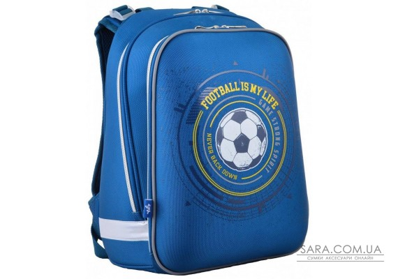 Шкільний каркасний рюкзак 1 Вересня 29х38х15 см 16 л для хлопчиків H-12 Football (554593)