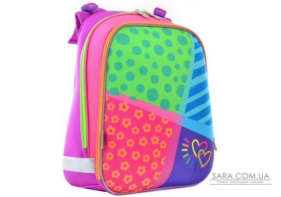 Шкільний каркасний рюкзак 1 Вересня 29х38х15 см 16 л для дівчаток H-12 Bright colors (554581)