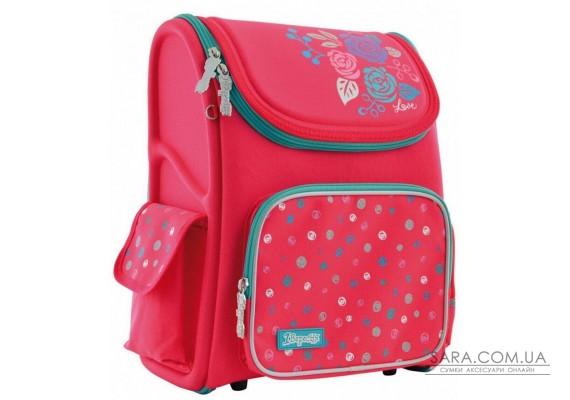 Шкільний каркасний рюкзак 1 Вересня 13 л для дівчаток H-17 «Lovely roses» (556331)
