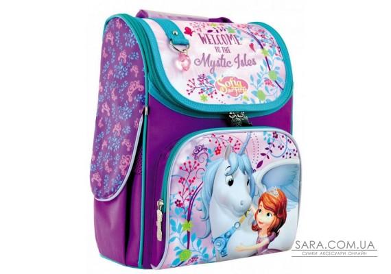 Шкільний каркасний рюкзак 1вересня 12 л для дівчаток H-11 «Sofia» (556150)