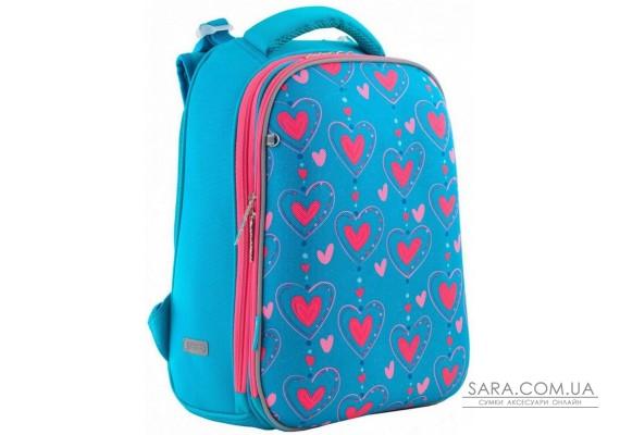 Шкільний каркасний рюкзак 1 Вересня H-12 «Romantic hearts» 16,5 л (556034)