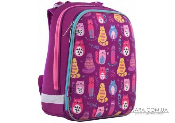 Шкільний каркасний рюкзак 1 Вересня H-12 «Cute cats» 16,5 л (556024)