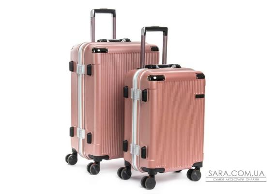Дорожная Чемодан 2/1 ABS-пластик 04 pink замок Podium