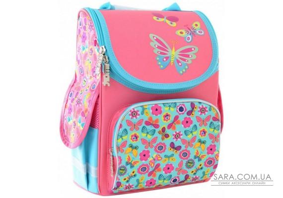 Школьный каркасный рюкзак Smart 26х34х14 см 12 л для девочек PG-11 Butterfly pink (554454)