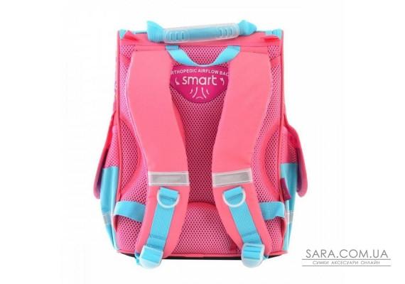 Шкільний каркасний рюкзак Smart 26х34х14 см 12 л для дівчаток PG-11 Butterfly pink (554454)