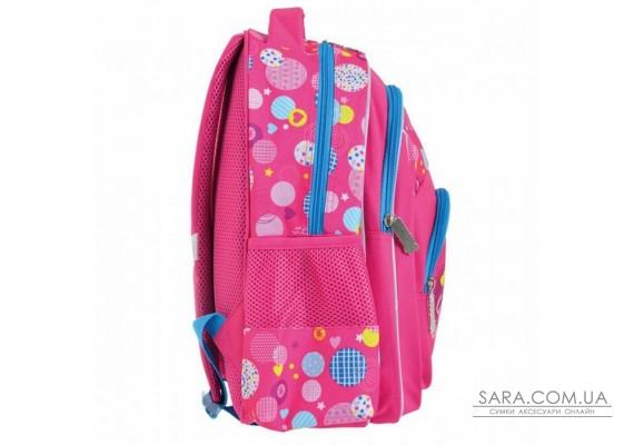 Шкільний рюкзак Smart 20 л для дівчаток ZZ-01 «Сolourful spots» (556807)