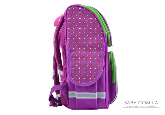 Школьный каркасный рюкзак Smart 26х34х14 см 12 л для девочек PG-11 Hearts pink (554447)