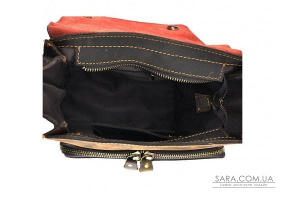 Коричневый кожаный мессенджер Tiding Bag 7055DB