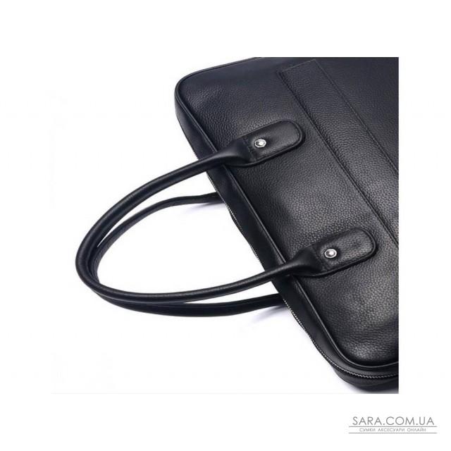 Чорна шкіряна чоловіча сумка Tiding Bag A25-17611A дешево