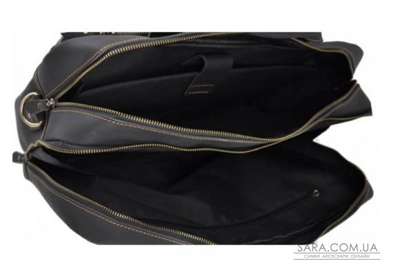 Черная кожаная мужская сумка Tiding Bag 7367RA