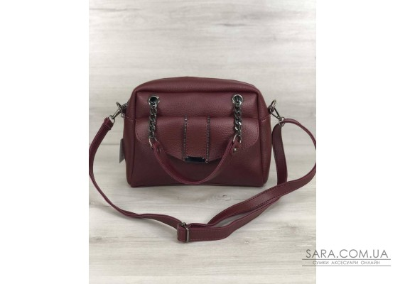 Стильная женская сумка Хлоя бордового цвета WeLassie
