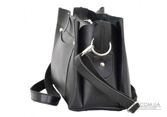 574 сумка екошкіра чорна Lucherino