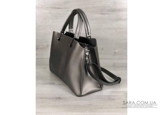 Стильная женская сумка Илария металлик WeLassie
