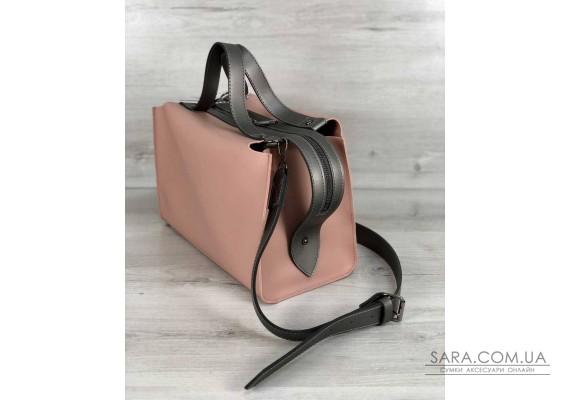 2в1 Стильная женская сумка Малика персикового цвета WeLassie