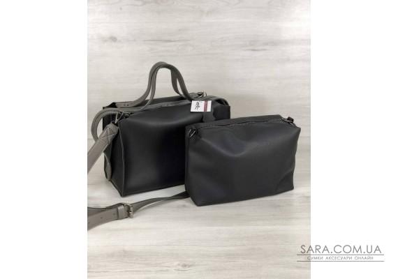 2в1 Стильна жіноча сумка Маліка чорного кольору WeLassie