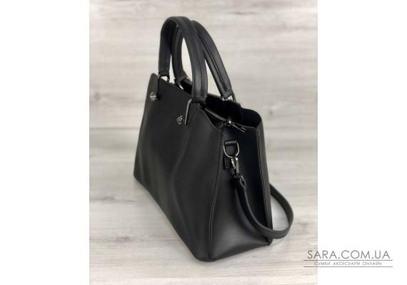 Стильная женская сумка Илария черного цвета WeLassie