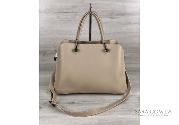 Стильная женская сумка Илария кремового цвета WeLassie