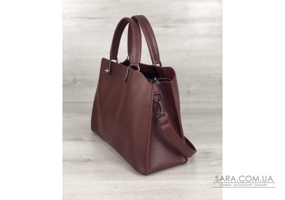 Стильная женская сумка Илария бордового цвета WeLassie