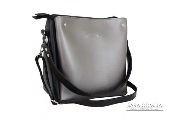612 сумка чорна срібло Lucherino