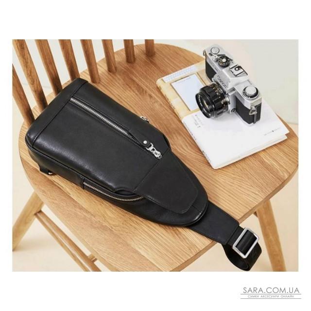 Черный кожаный мужской мессенджер Tiding Bag B3-1701A недорого