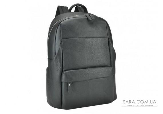 Черный кожаный мужской рюкзак Tiding Bag B3-161A