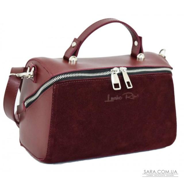 Купити 619 сумка замш бордо Lucherino дешево. Україна
