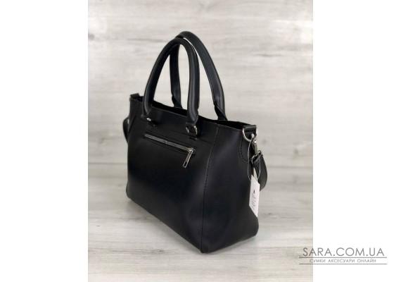 Стильная молодежная сумка Сагари черный с бронзой WeLassie