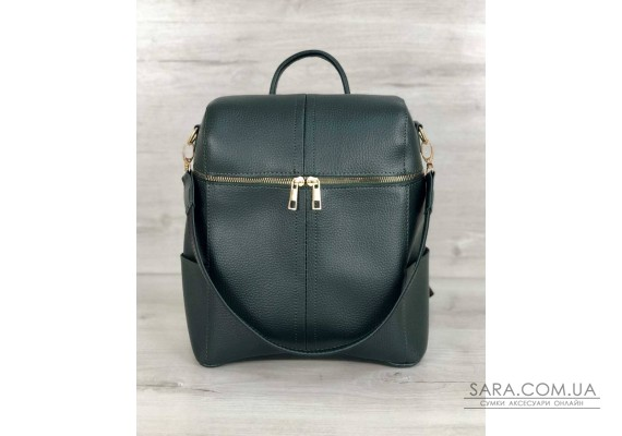 Молодежный сумка-рюкзак Фроги зеленого цвета WeLassie