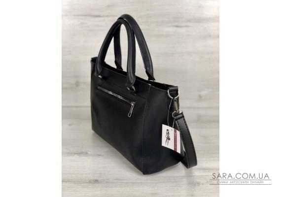 Стильная молодежная сумка Сагари черный с металликом WeLassie
