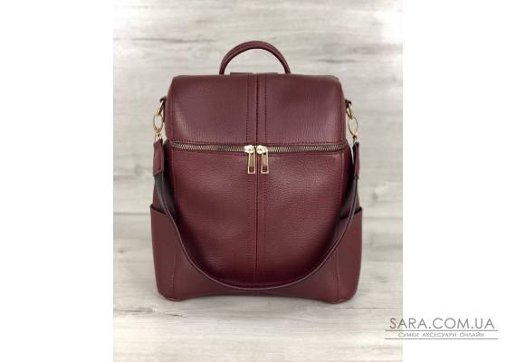 Молодежный сумка-рюкзак Фроги бордового цвета WeLassie